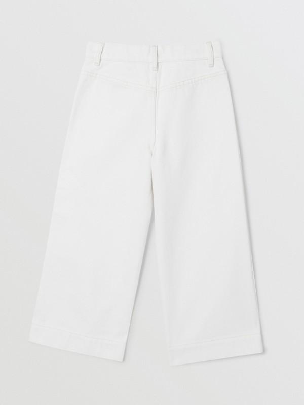 Logo Print Japanese Denim Jeans in Natural White   Burberry United Kingdom - cell image 3