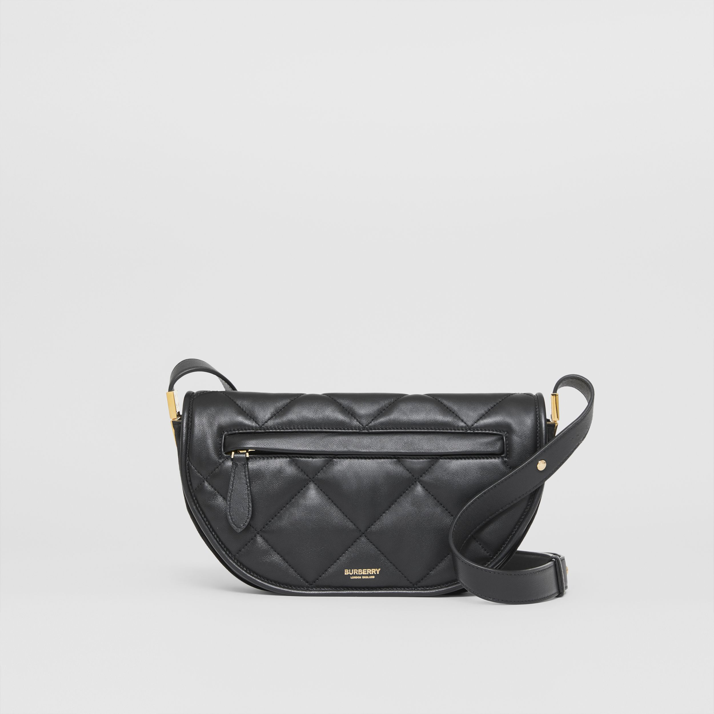Small Quilted Lambskin Olympia Bag in Black - Women | Burberry - 1