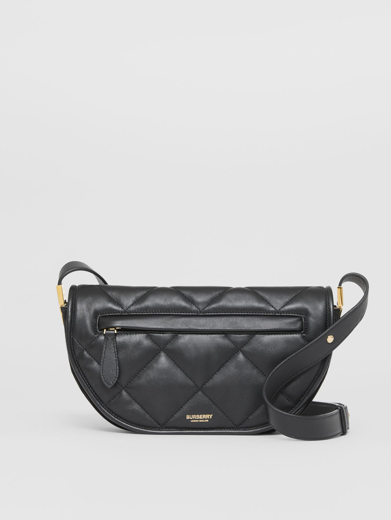 Small Quilted Lambskin Olympia Bag in Black