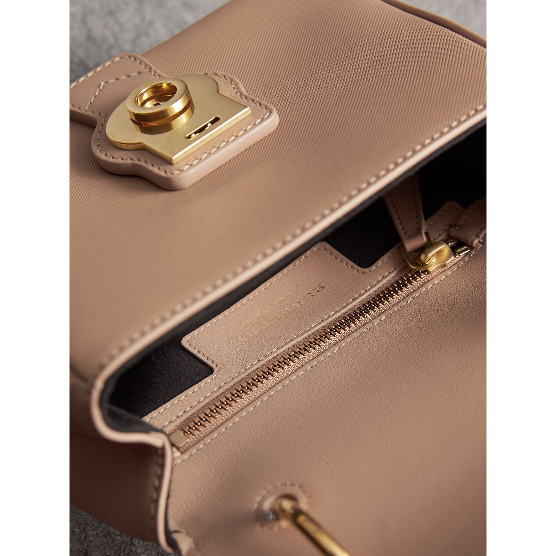 The Small DK88 Top Handle Bag in Honey - Women | Burberry - gallery image 6