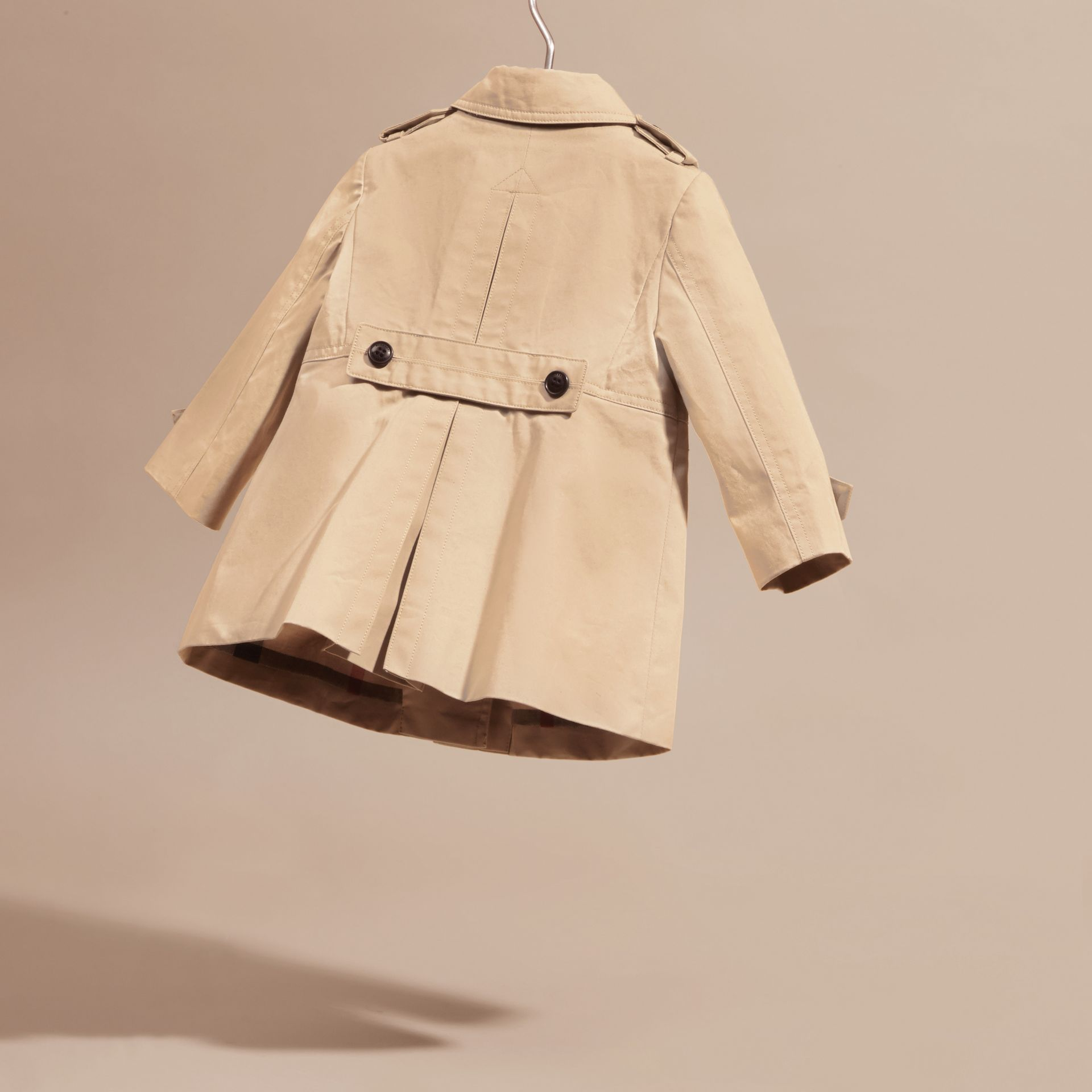 Cotton Trench Coat in Stone | Burberry - gallery image 4