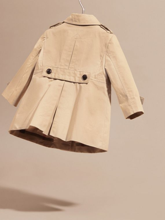 Cotton Trench Coat in Stone | Burberry - cell image 3