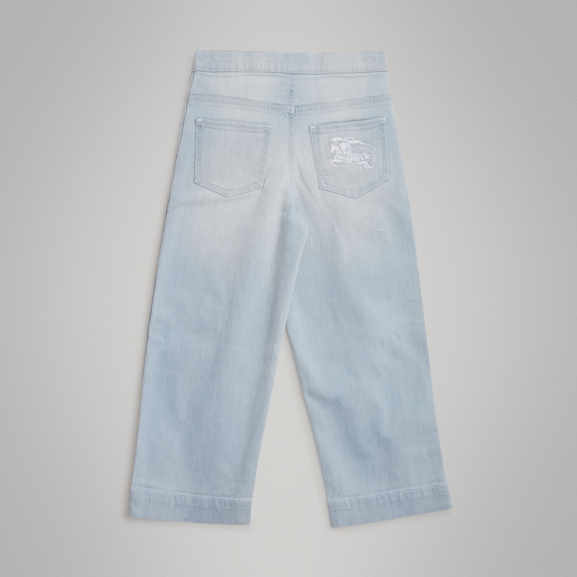 Relaxed Fit Bleached Jeans in Light Blue | Burberry United Kingdom - gallery image 3
