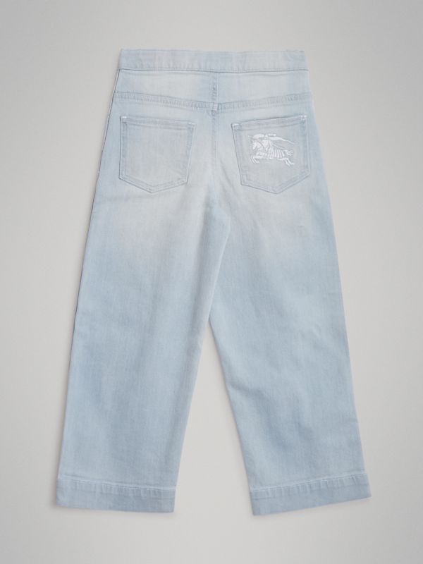 Relaxed Fit Bleached Jeans in Light Blue | Burberry Singapore - cell image 3