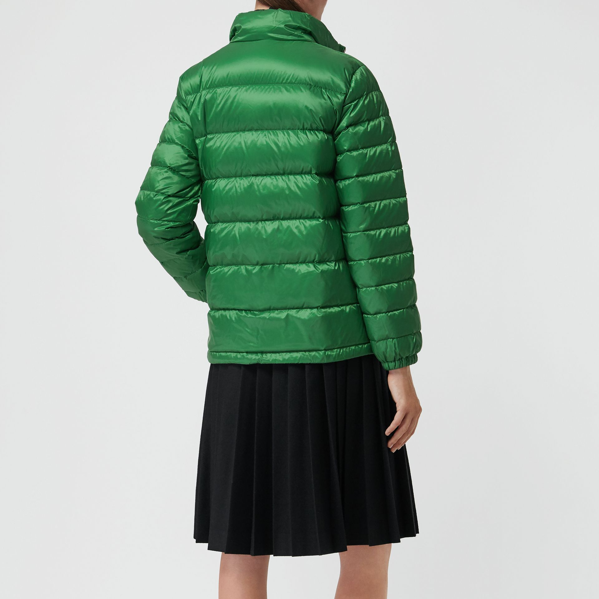 Down-filled Puffer Jacket in Emerald Green - Women | Burberry United Kingdom - gallery image 2