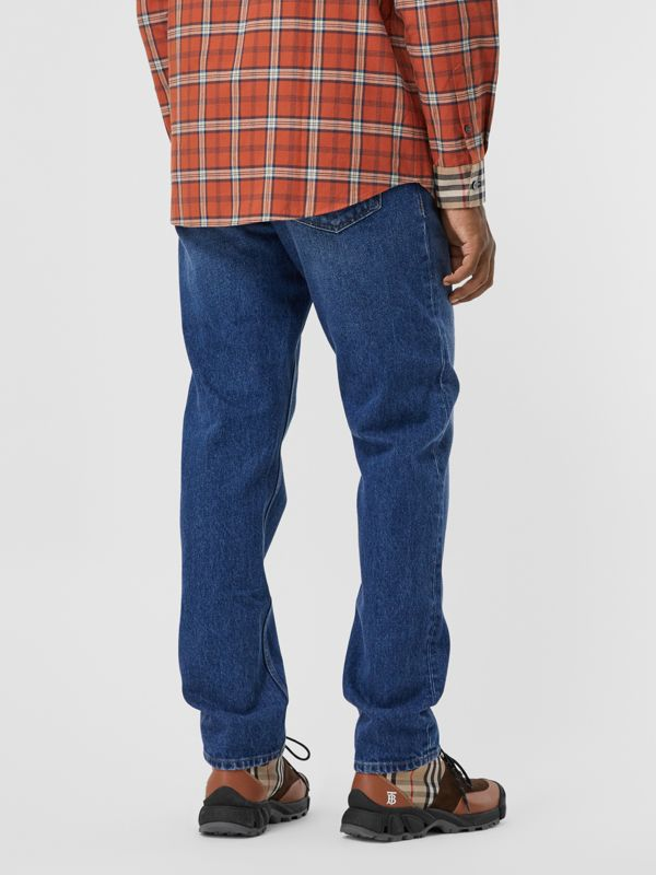 Straight Fit Indigo Jeans in Blue - Men | Burberry United Kingdom - cell image 2