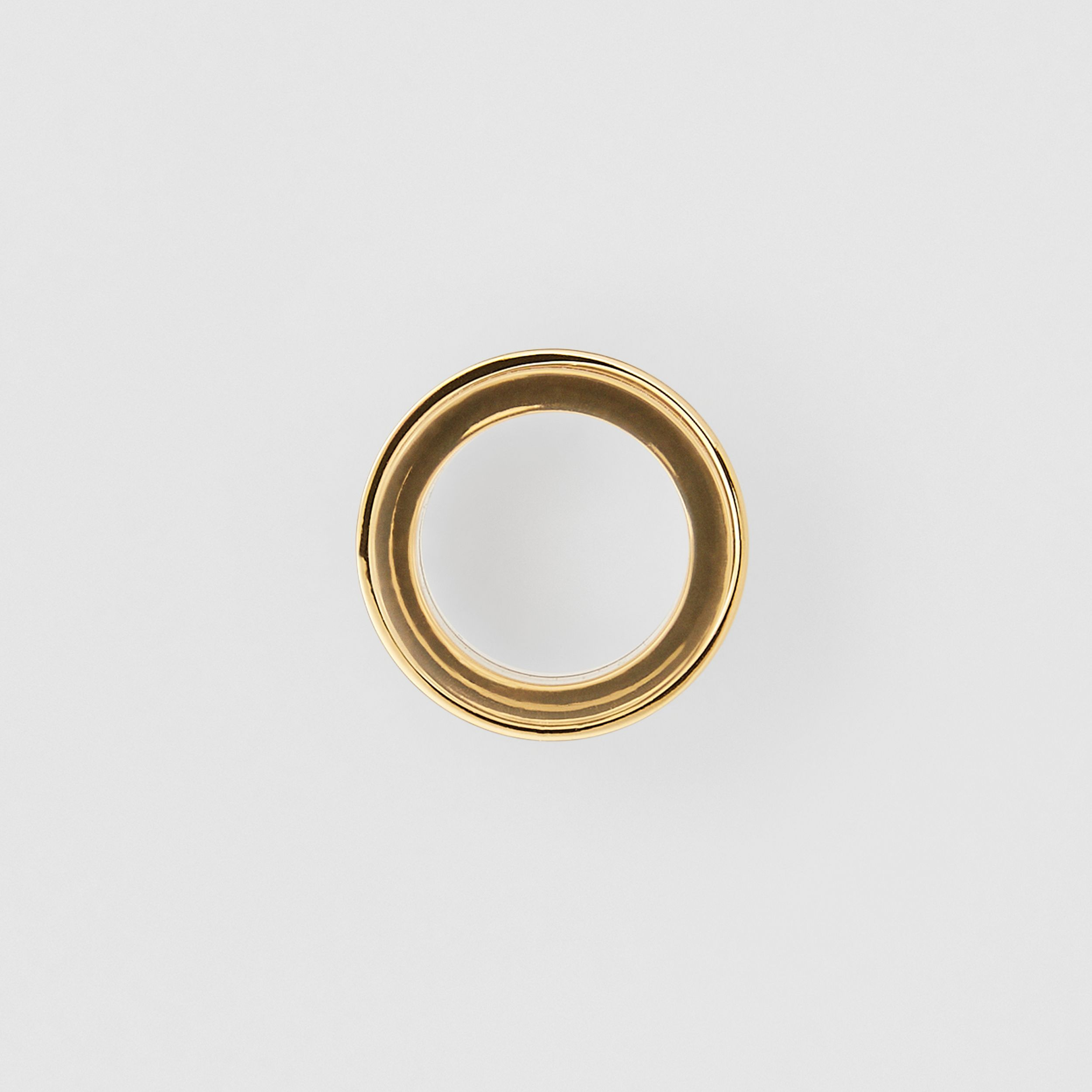 Resin and Gold-plated Cylindrical Ring in Light Gold/beige - Women | Burberry - 4