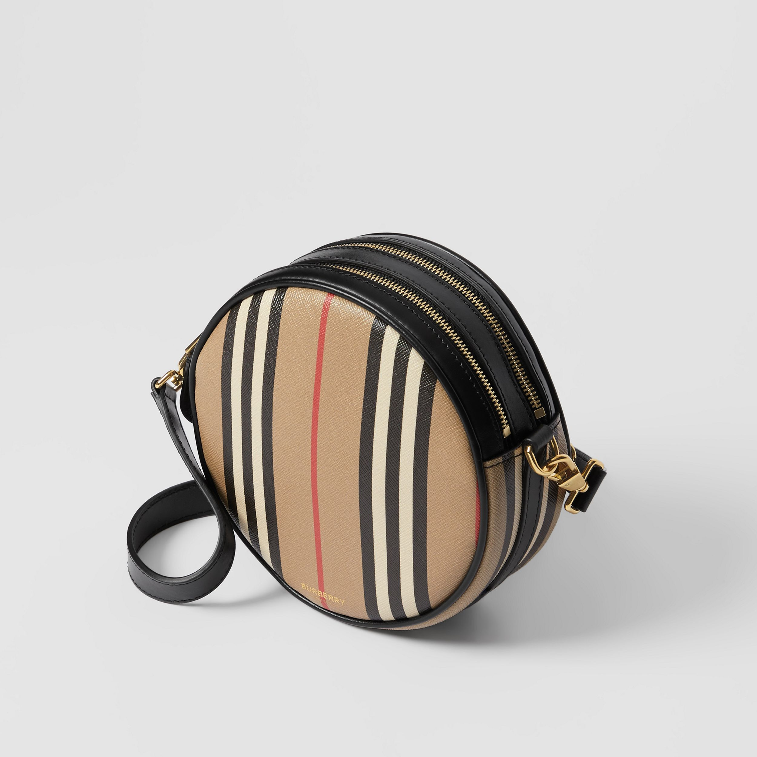 Icon Stripe E-canvas Louise Bag in Archive Beige - Women | Burberry Singapore - 4