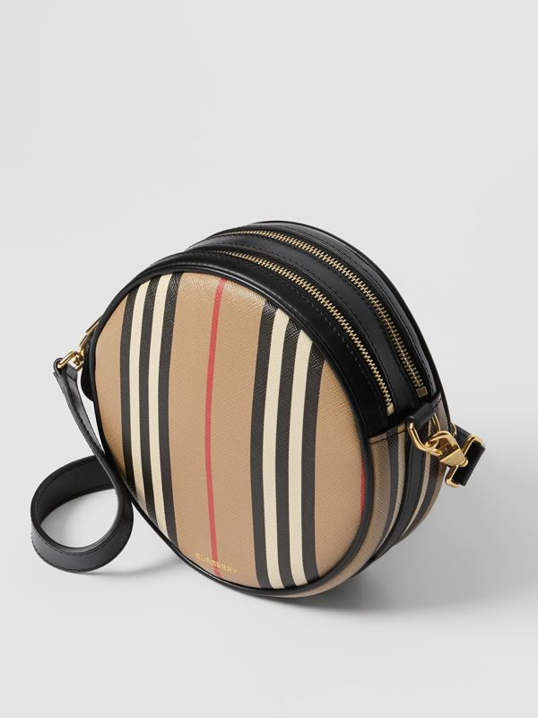 Borsa Louise in e-canvas con iconico motivo a righe (Beige Archivio) - Donna | Burberry - cell image 3