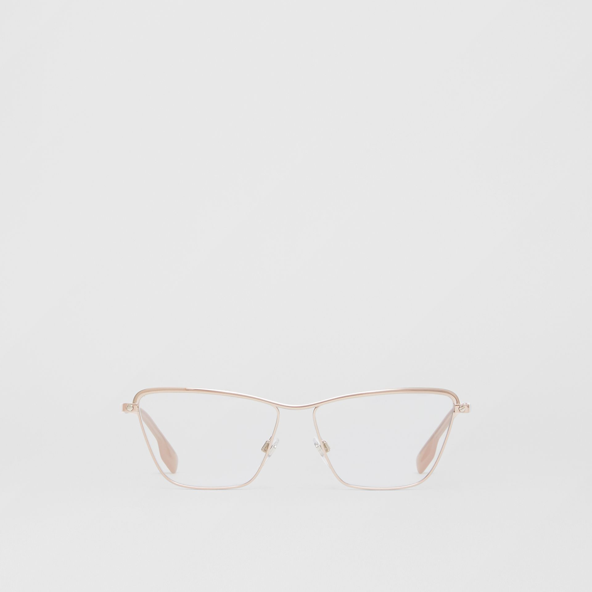 Rectangular Optical Frames in Rose Gold - Women | Burberry - gallery image 0
