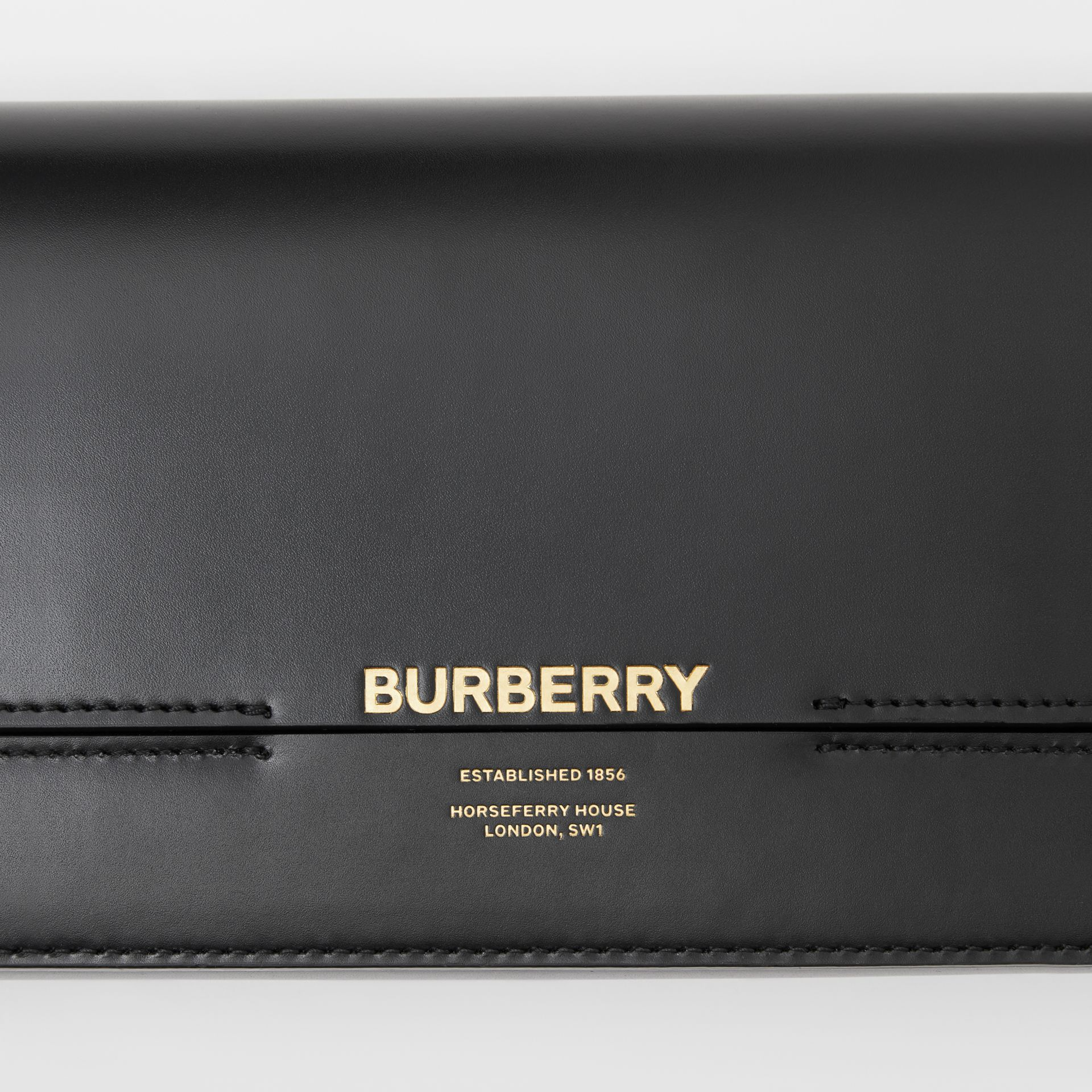 Leather Grace Clutch in Black - Women | Burberry - gallery image 1
