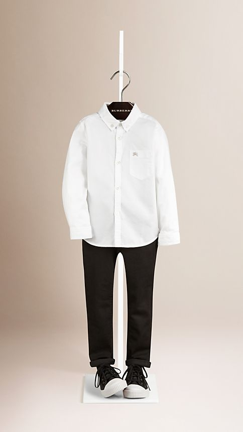 White Classic Oxford Shirt - Image 1