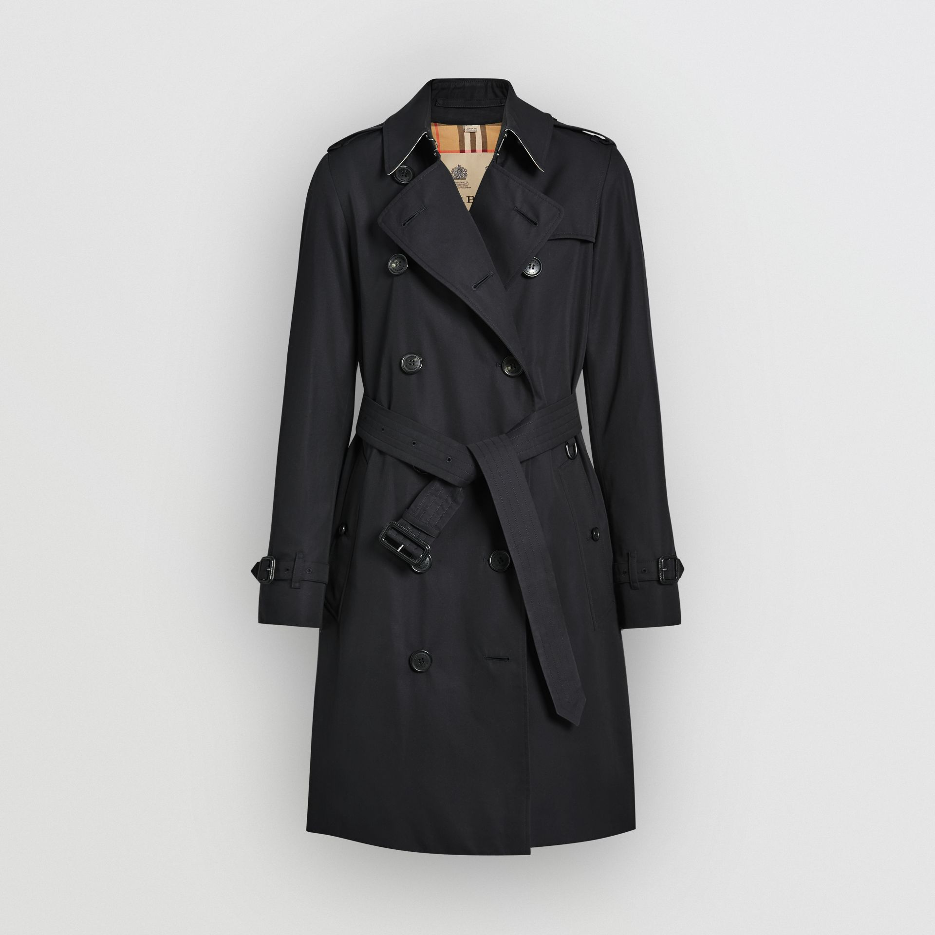The Kensington Heritage Trench Coat in Midnight - Women | Burberry Singapore - gallery image 3