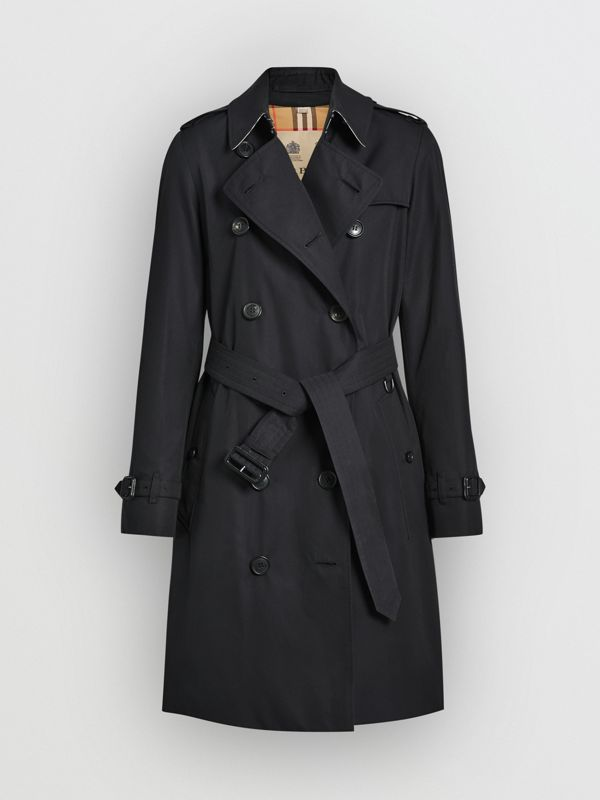 The Kensington Heritage Trench Coat in Midnight - Women | Burberry Singapore - cell image 3