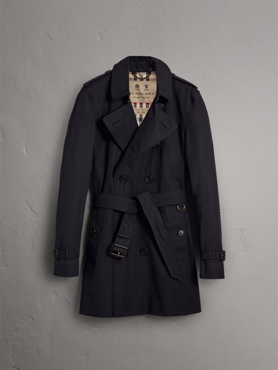 The Kensington – Mid-length Heritage Trench Coat in Navy - Men | Burberry Australia - cell image 3
