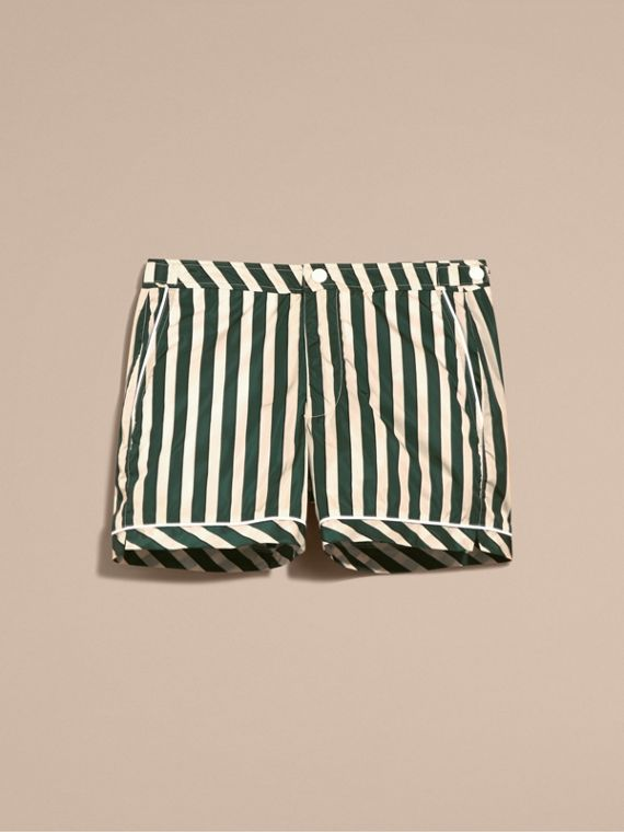 Forest green Pyjama Stripe Swim Shorts - cell image 3