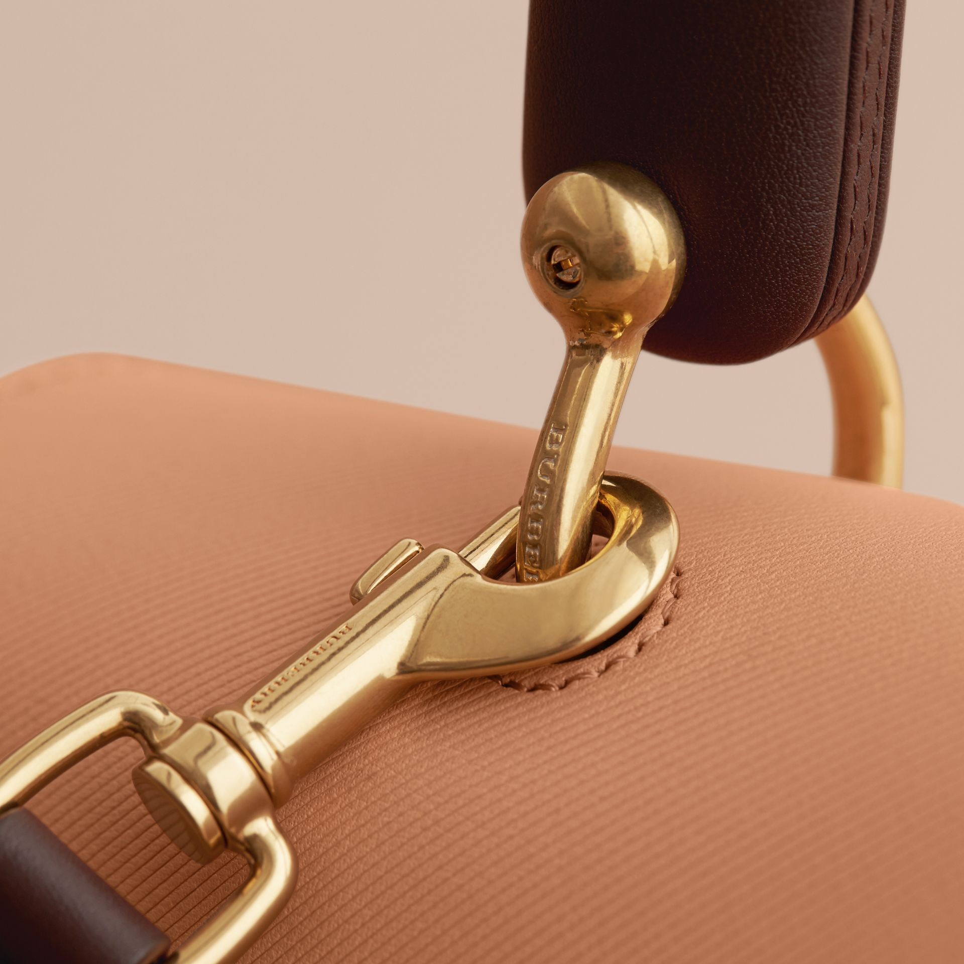 The Large DK88 Top Handle Bag in Pale Clementine - Women | Burberry Australia - gallery image 3