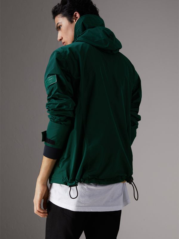 Packaway Hood Shape-memory Taffeta Jacket in Racing Green - Men | Burberry - cell image 2