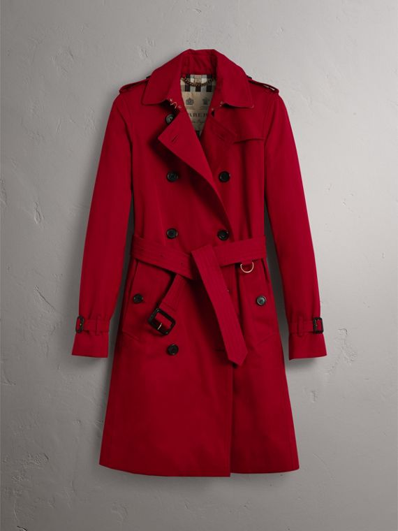 The Kensington – Long Trench Coat in Parade Red - Women | Burberry - cell image 3
