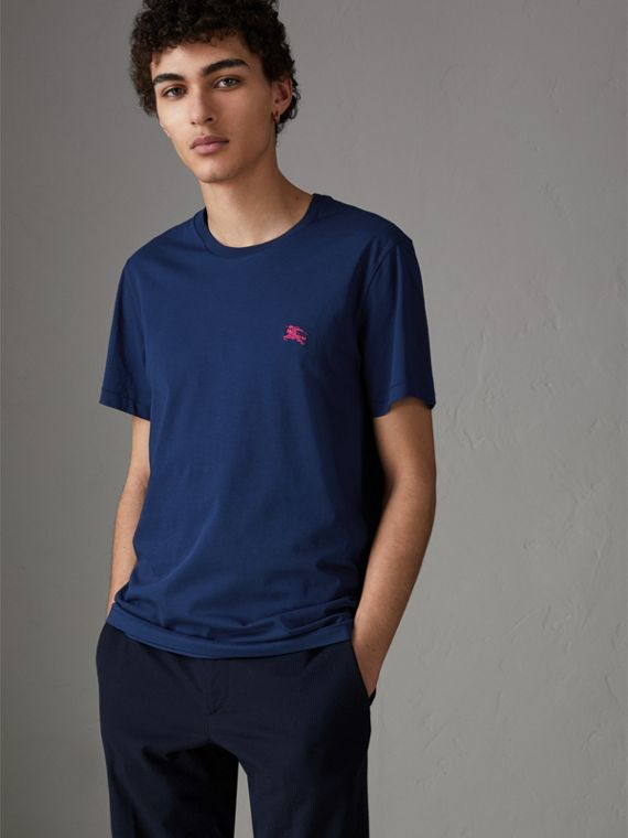Cotton Jersey T-shirt in Bright Navy
