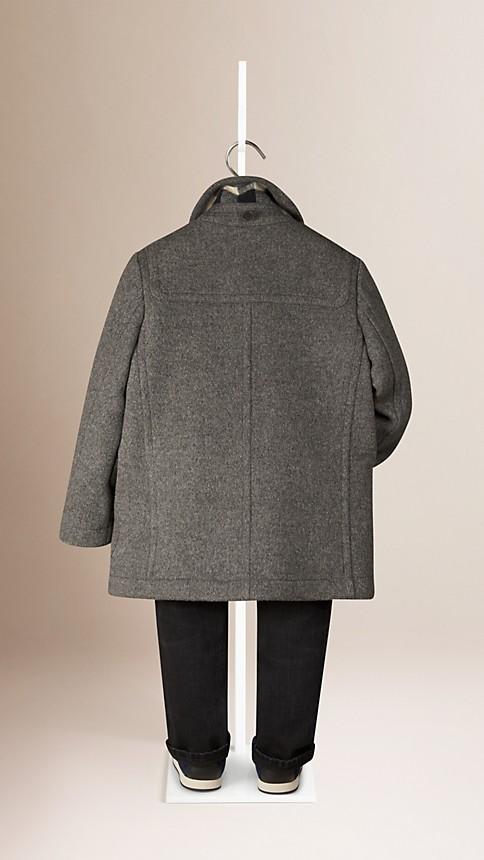 Gris moyen Duffle-coat en laine - Image 2