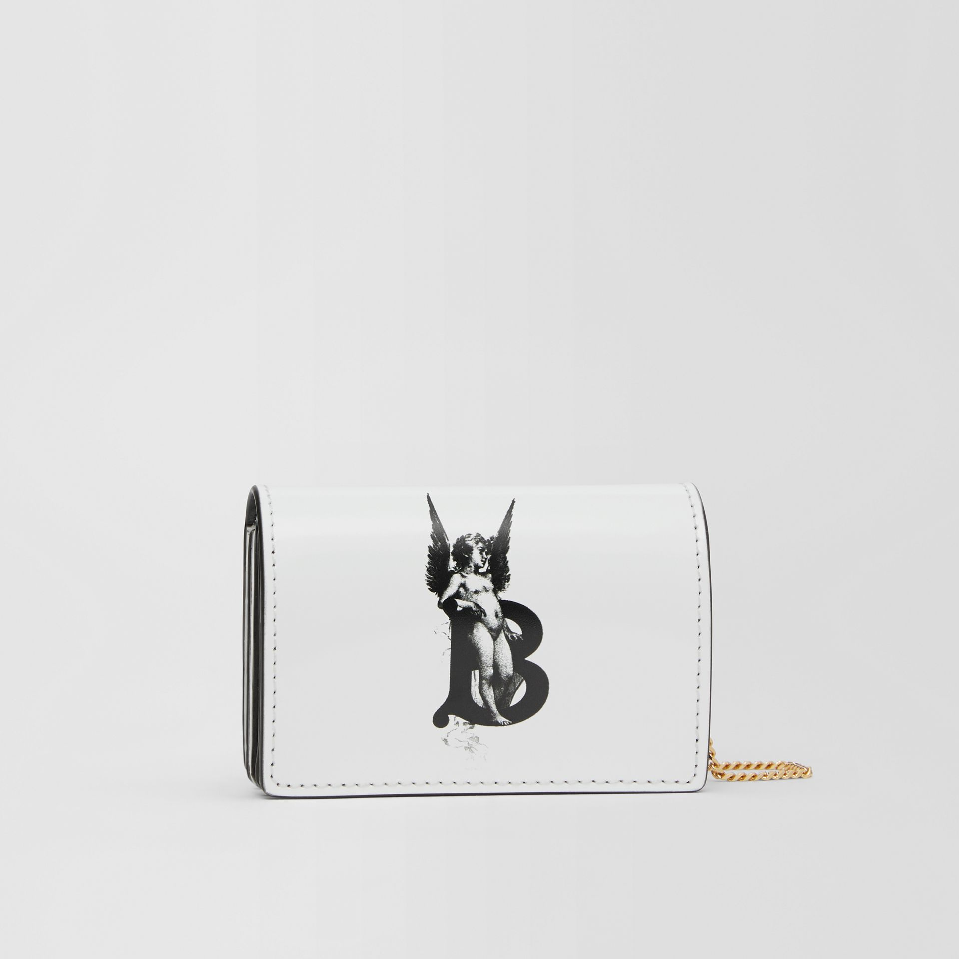 Cherub Print Card Case with Detachable Strap in White | Burberry - gallery image 7