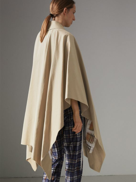 Tropical Gabardine Asymmetric Cape in Oatmeal - Women | Burberry United States - cell image 2