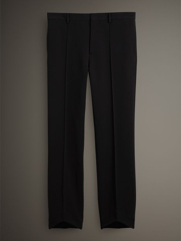 Jersey Cropped Tailored Riding Trousers in Black - Men | Burberry - cell image 3