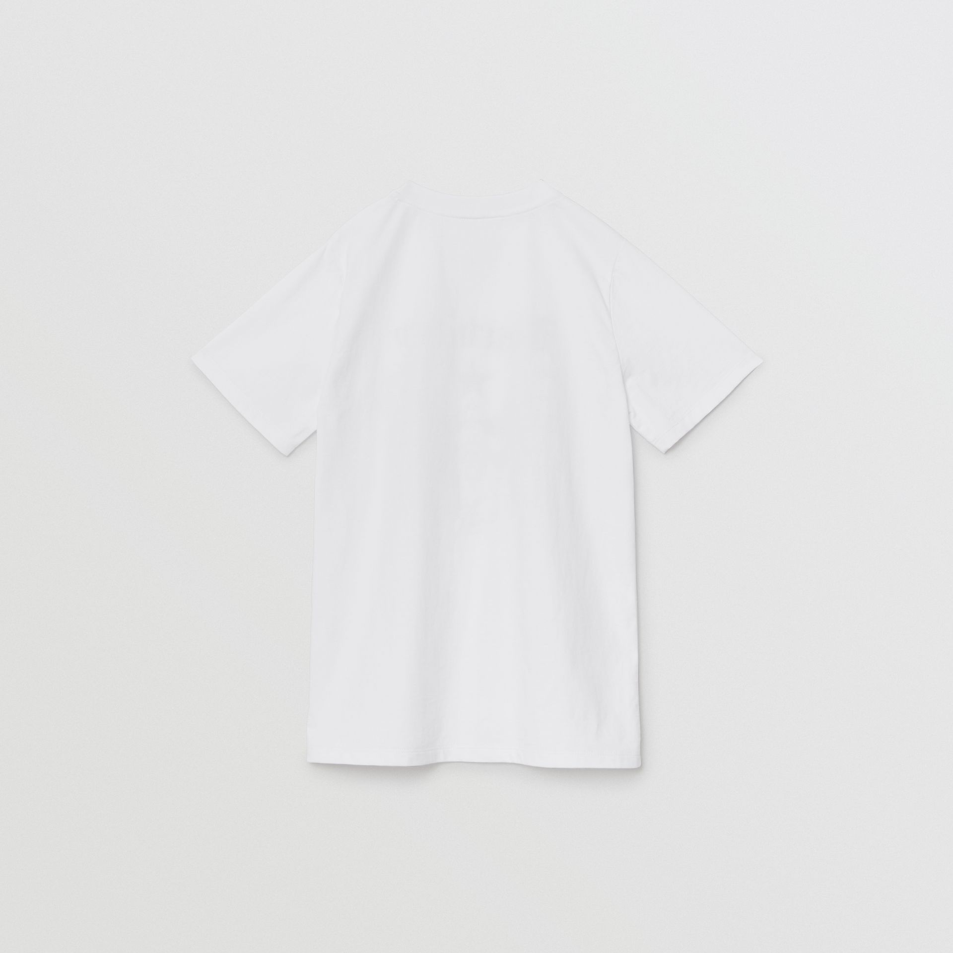 Montage Print Cotton T-shirt in White | Burberry - gallery image 3
