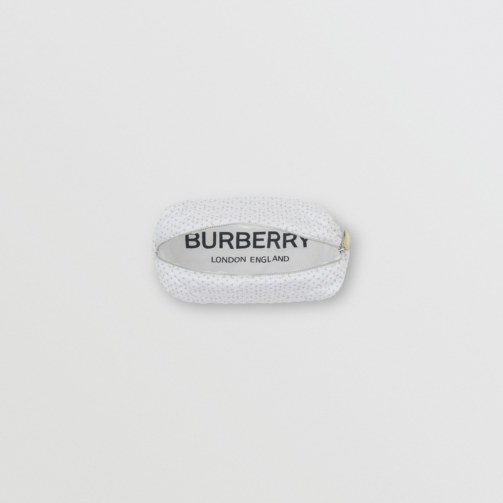 Paw Print Striped Cotton Three-piece Baby Gift Set in Natural White - Children | Burberry - gallery image 11