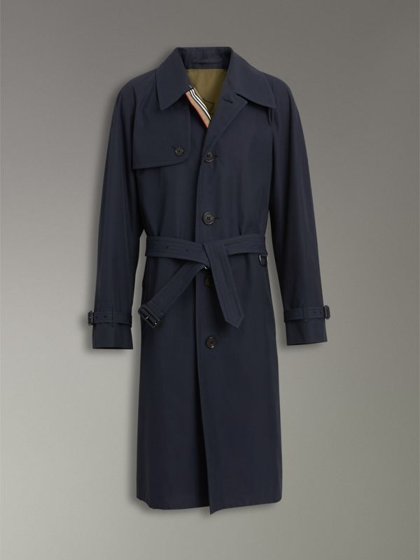 Icon Stripe Cotton Gabardine Trench Coat in Navy - Men | Burberry - cell image 3