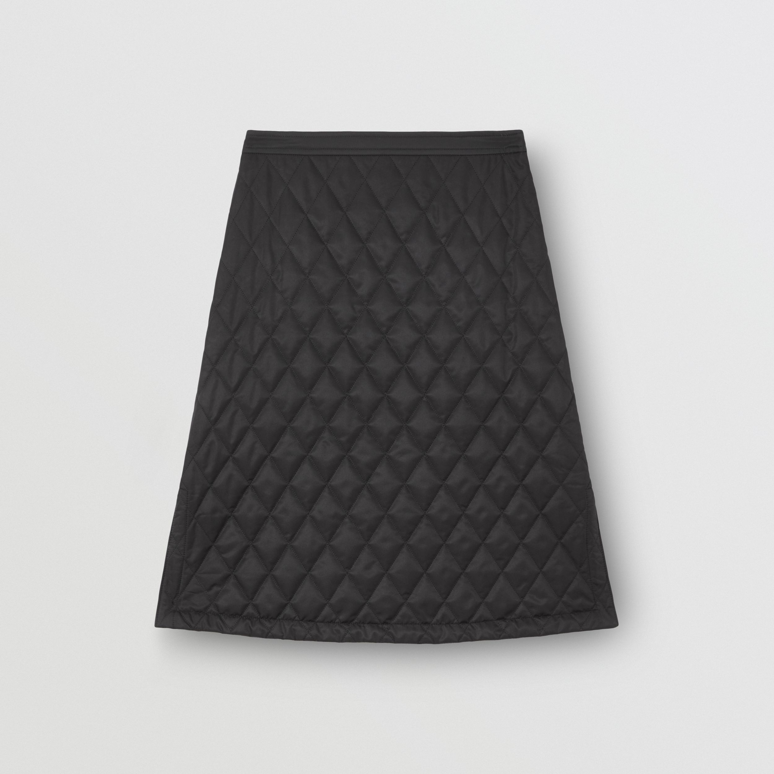 Diamond Quilted A-line Skirt in Black - Women | Burberry - 4