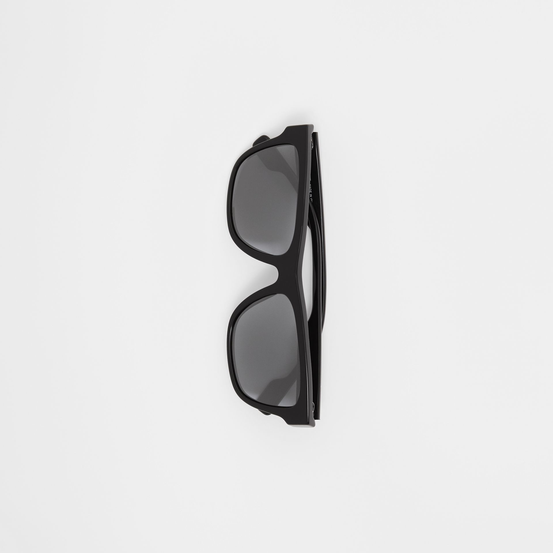 Square Frame Sunglasses in Black - Men | Burberry Canada - gallery image 3