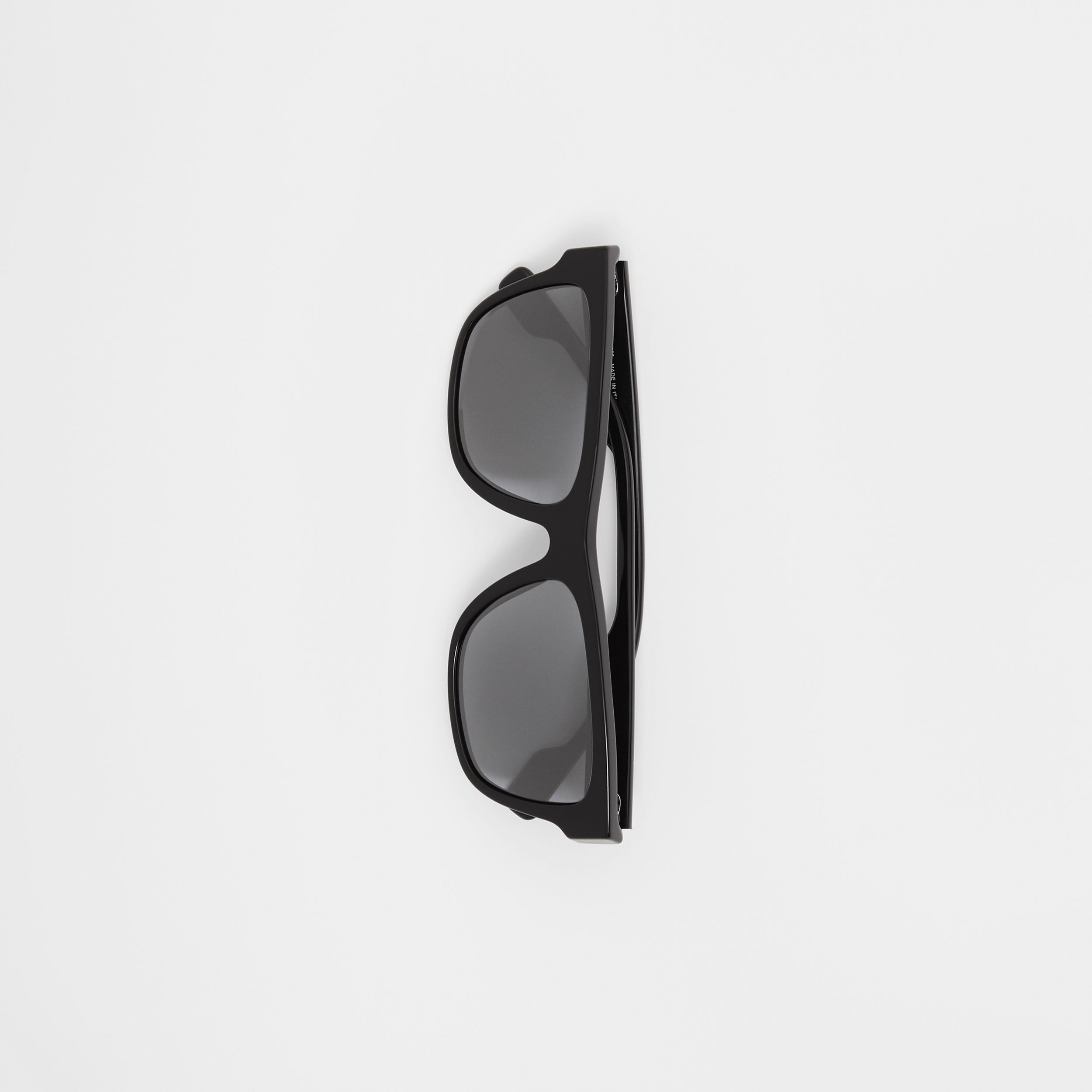 Square Frame Sunglasses in Black - Men | Burberry Australia - 4