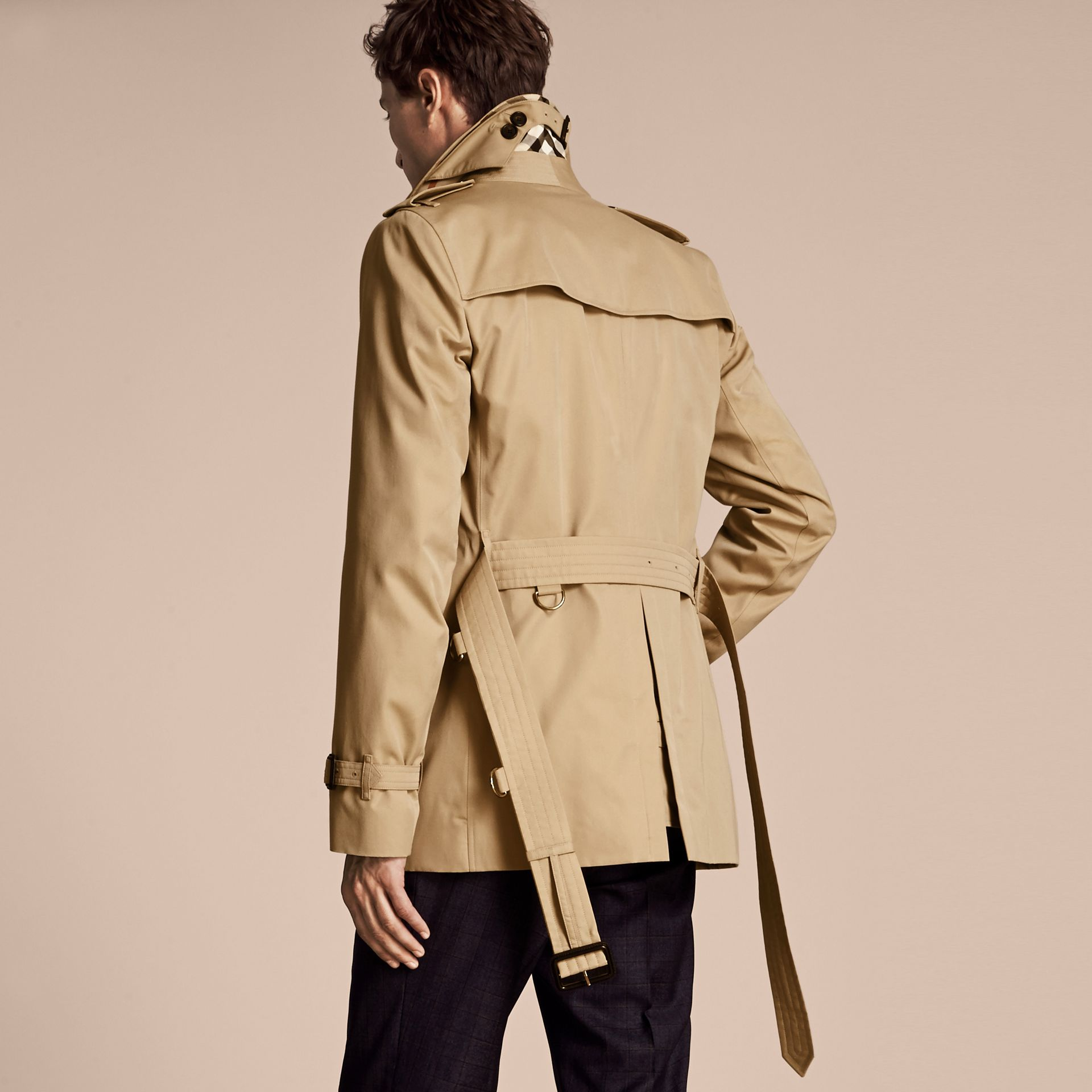 Honey The Kensington – Short Heritage Trench Coat Honey - gallery image 3