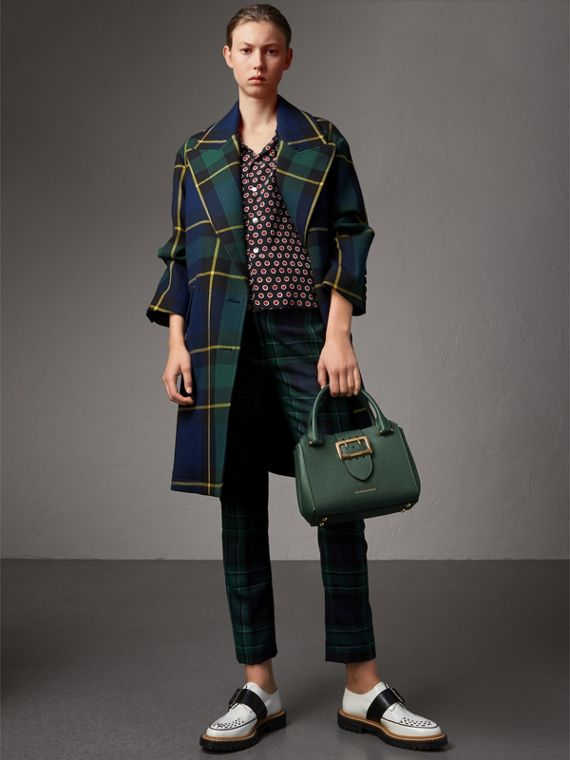 The Small Buckle Tote in Grainy Leather in Sea Green - Women | Burberry - cell image 2