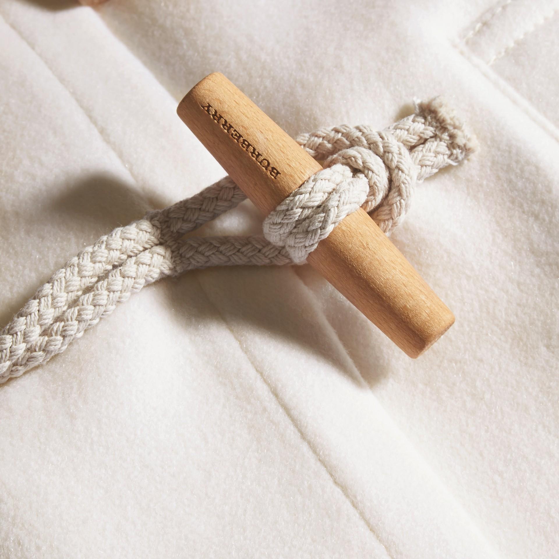 White Cashmere Duffle Coat White - gallery image 2