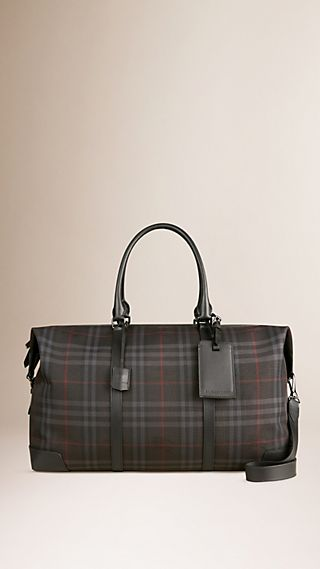 Horseferry Check and Leather Holdall