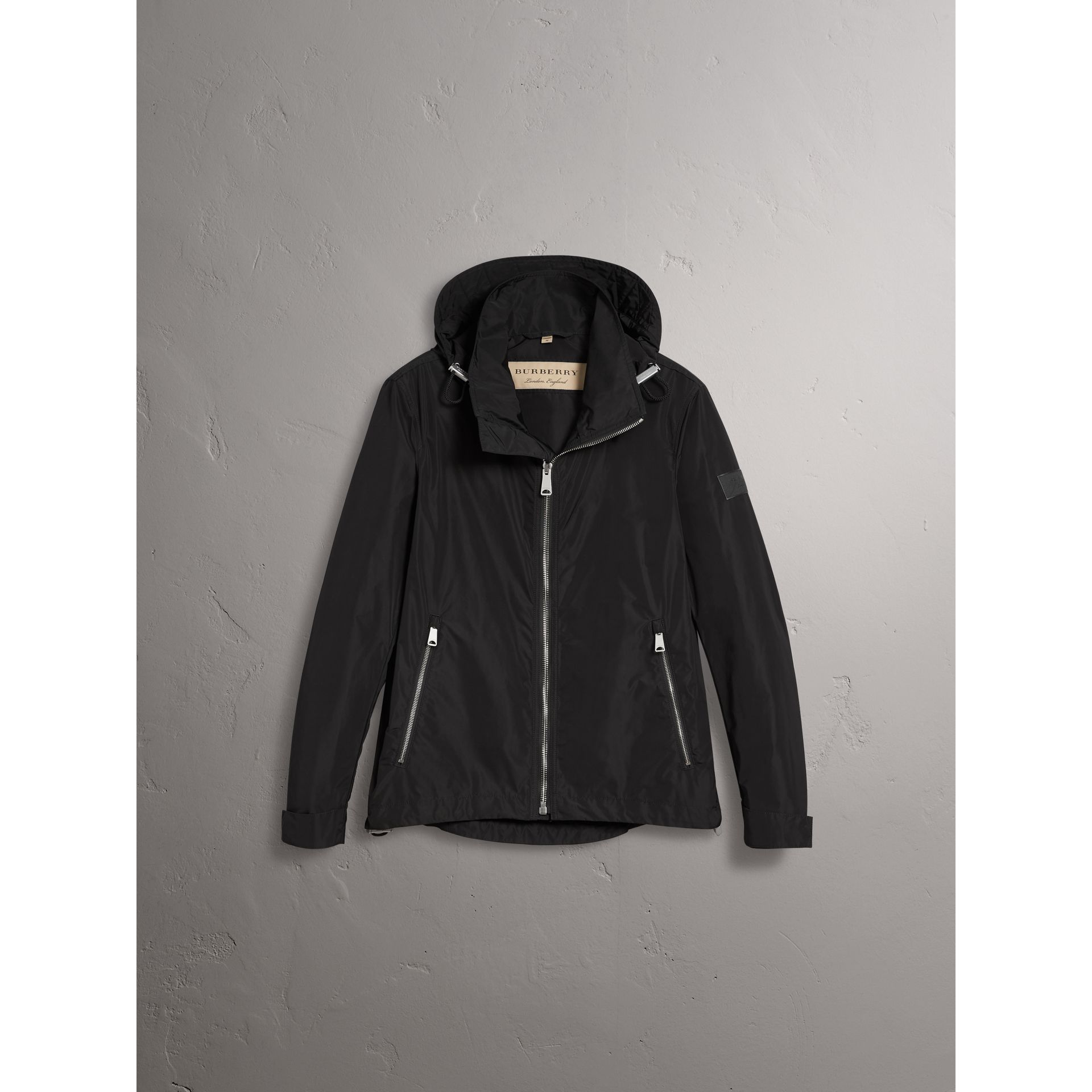 Packaway Hood Showerproof Jacket in Black - Men | Burberry United States - gallery image 3