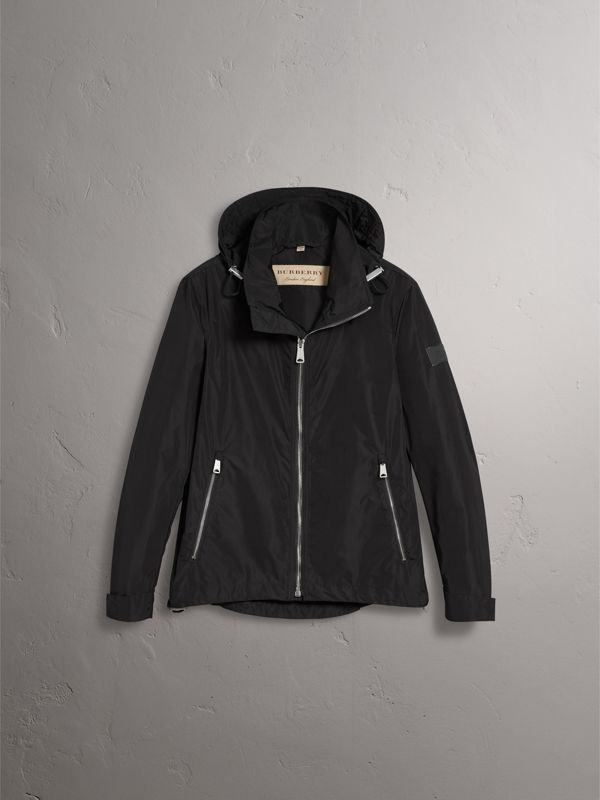 Packaway Hood Showerproof Jacket in Black - Men | Burberry - cell image 3