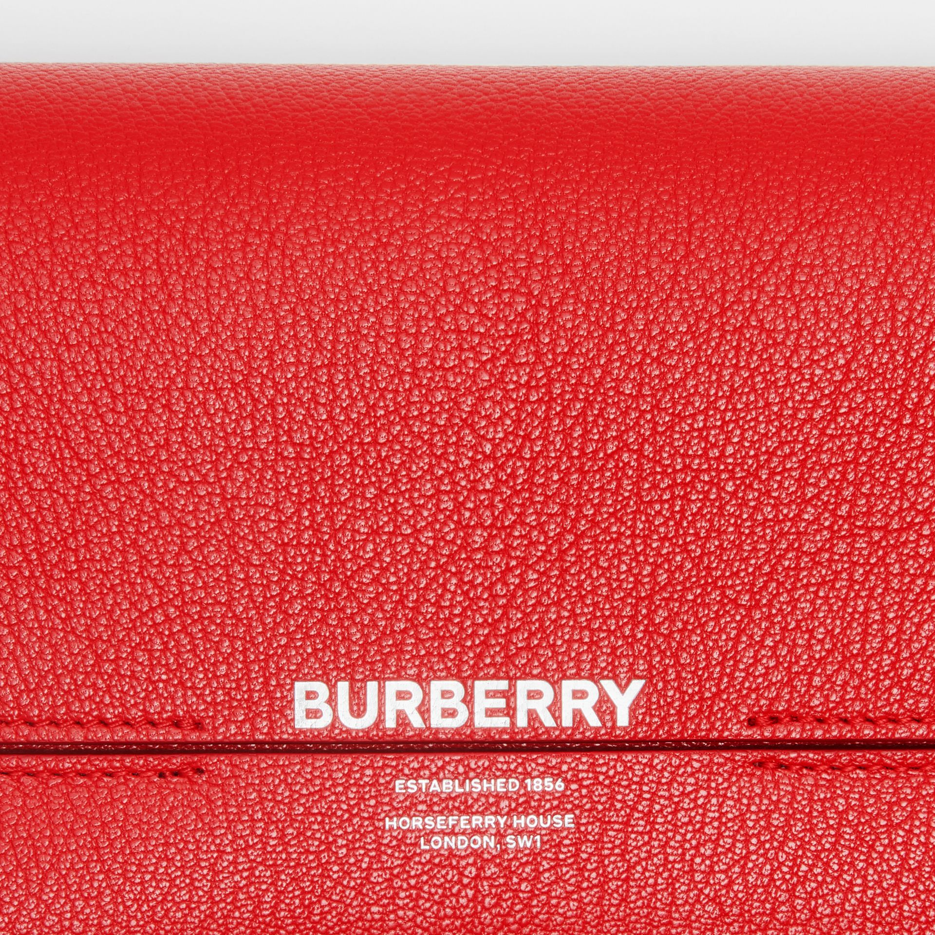 Leather Grace Clutch in Bright Military Red - Women | Burberry - gallery image 1