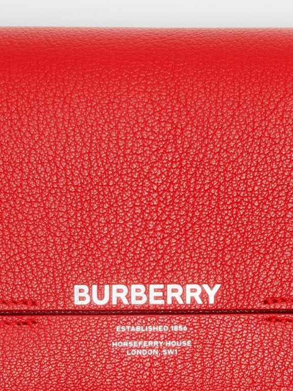 Leather Grace Clutch in Bright Military Red - Women | Burberry - cell image 1