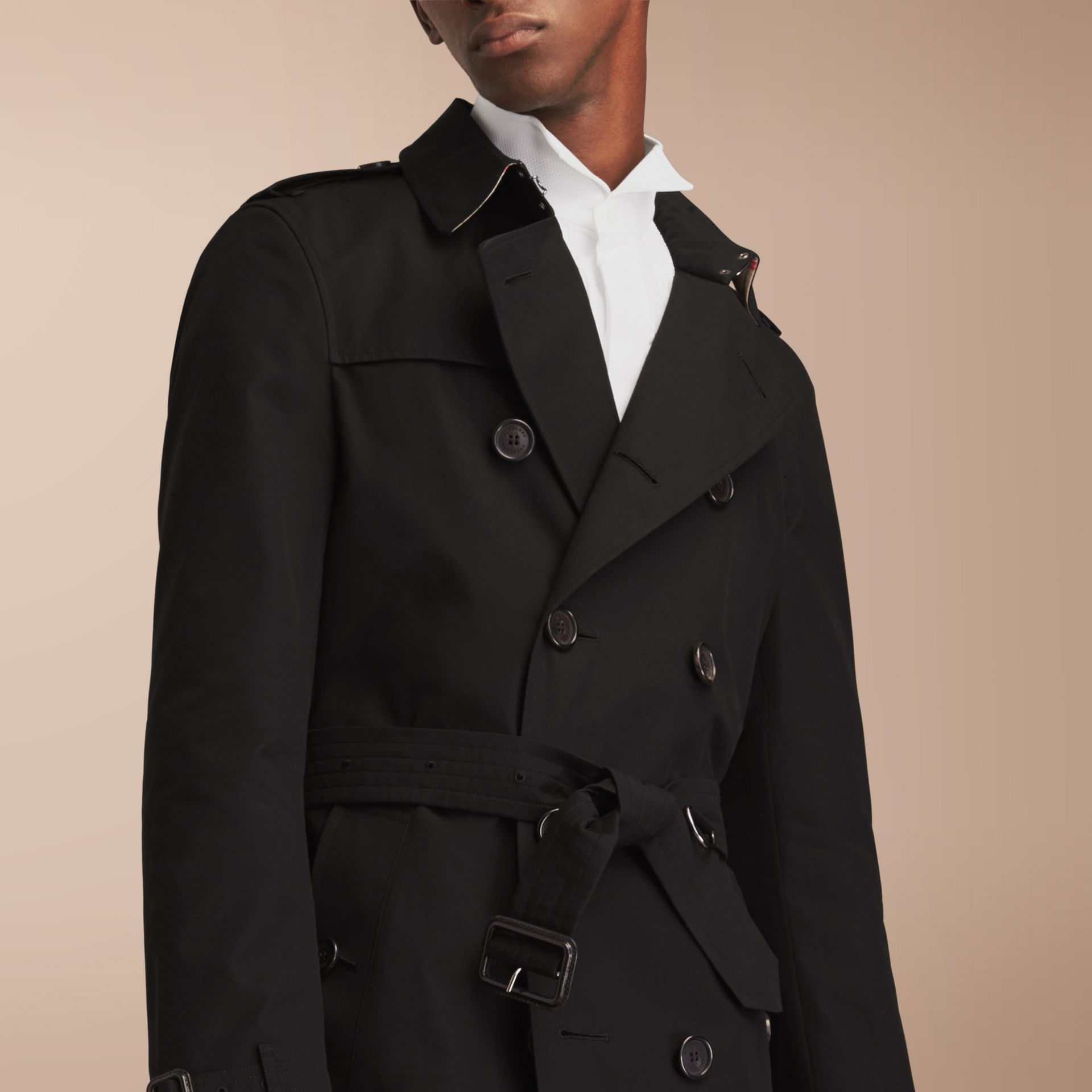 The Chelsea – Long Heritage Trench Coat in Black - gallery image 7