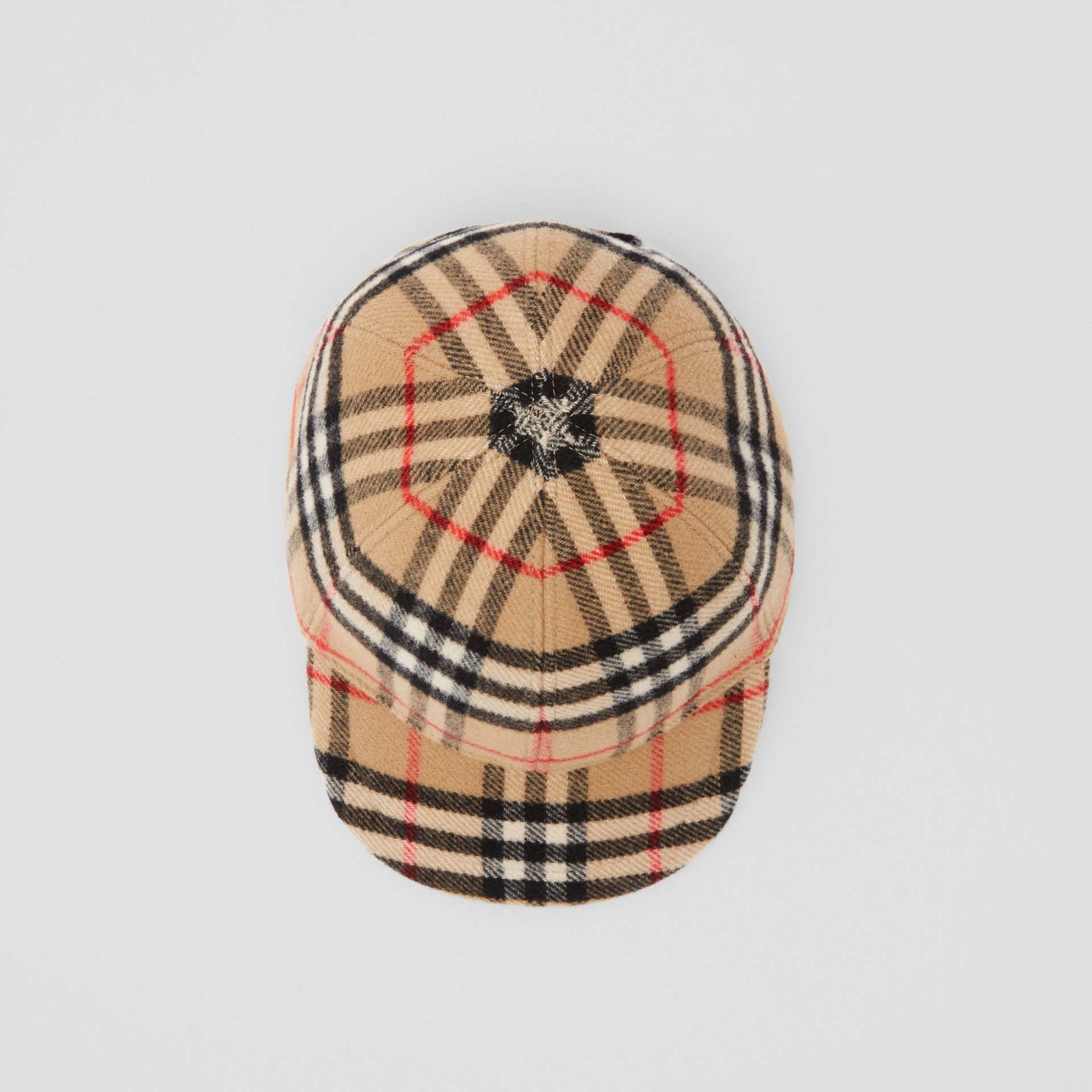 Vintage Check Wool Baseball Cap in Archive Beige - Children | Burberry - gallery image 2