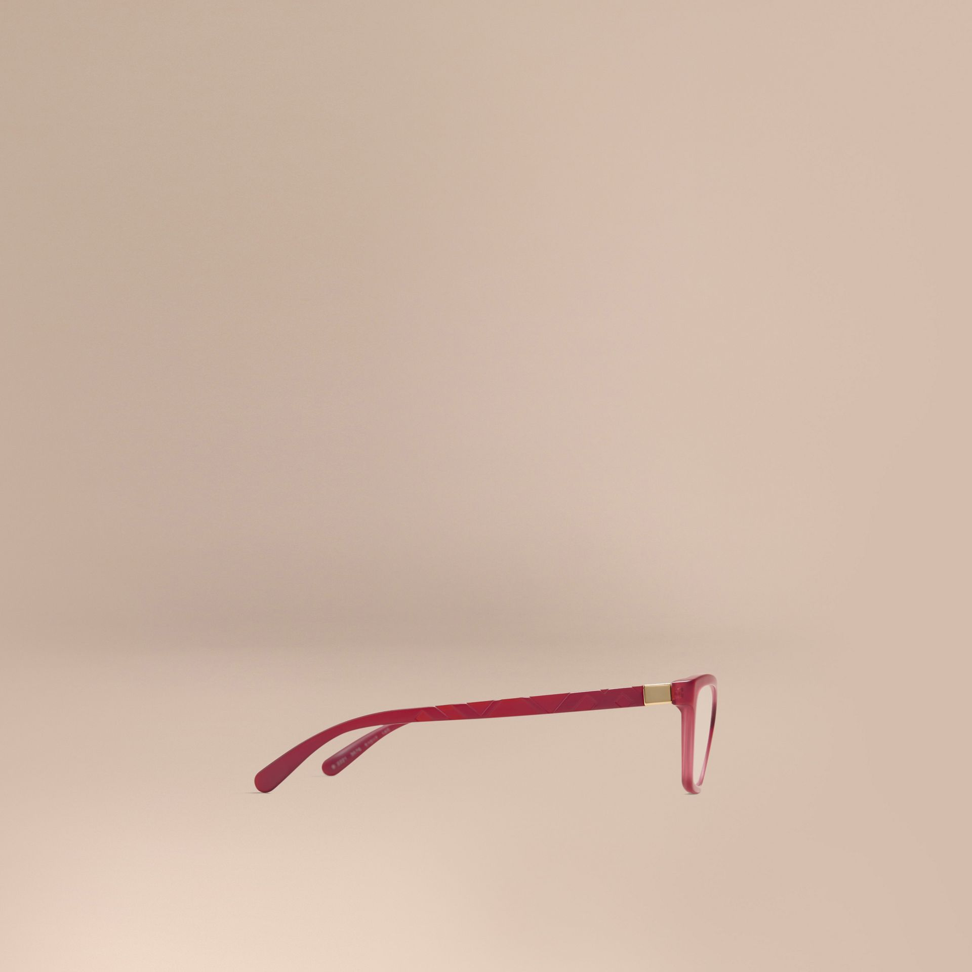Red Check Detail Cat-eye Optical Frames Red - gallery image 4