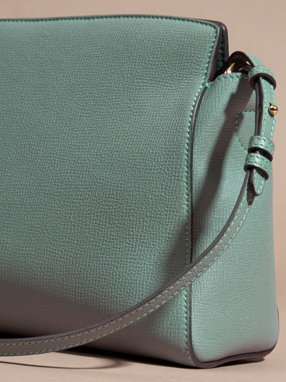 Smokey green The Saddle Clutch in Grainy Bonded Leather Smokey Green - cell image 3
