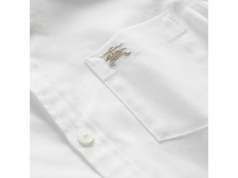 Classic Oxford Shirt in White - Boy | Burberry - cell image 1