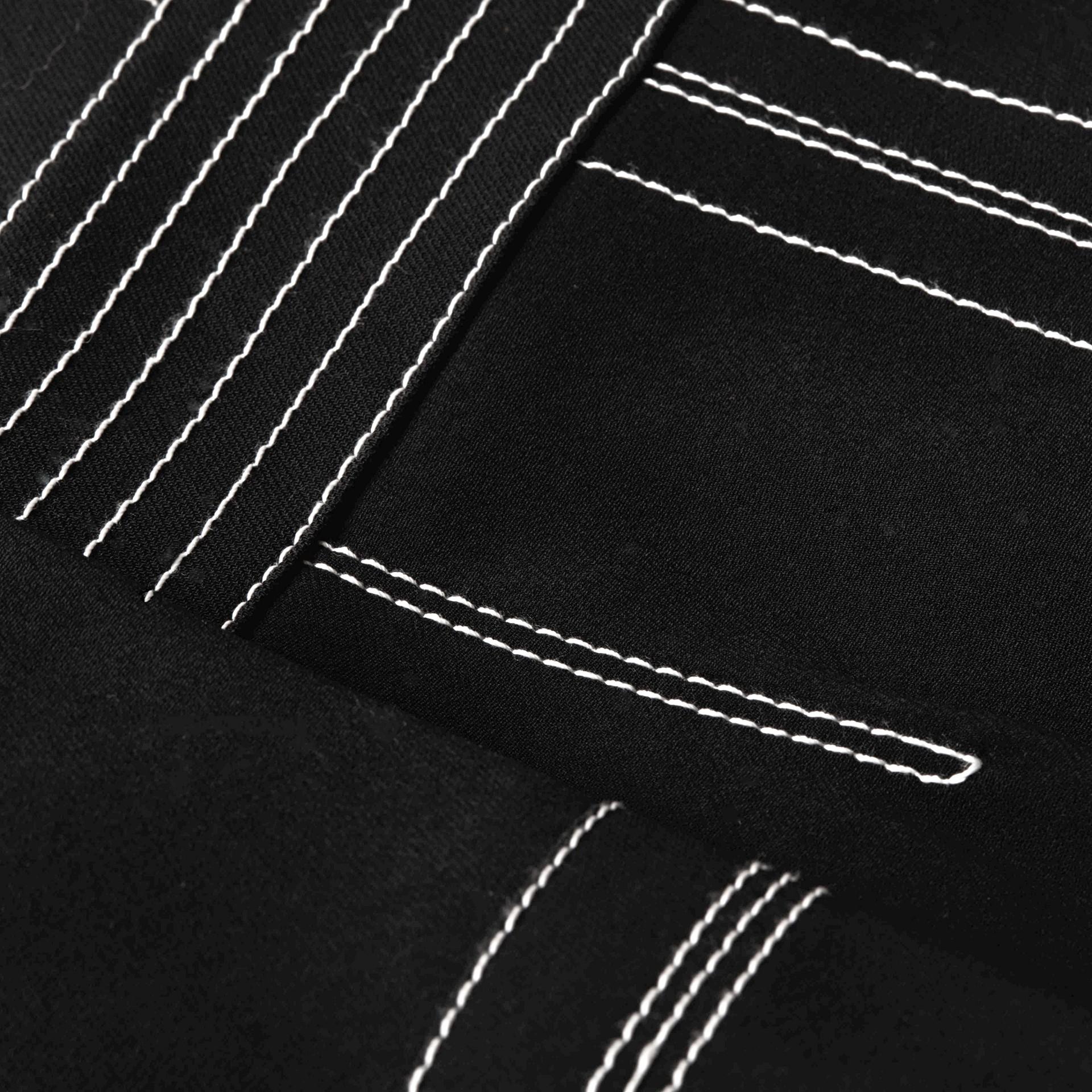 Black Regimental Wool Silk Shift Dress - gallery image 2