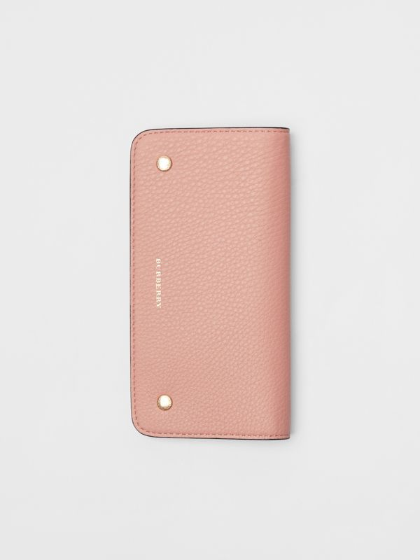 Leather Phone Wallet in Ash Rose - Women | Burberry United Kingdom - cell image 3