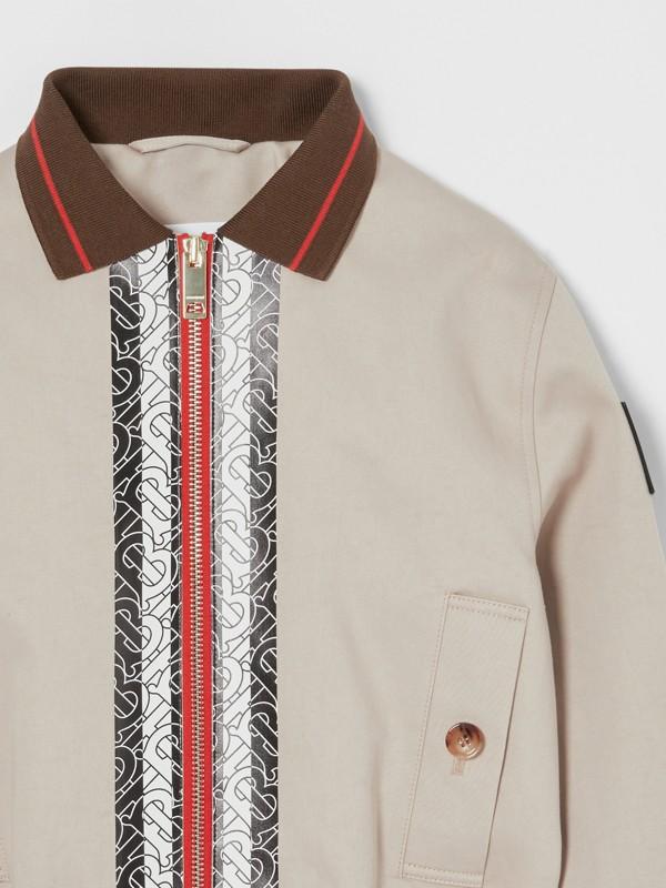 Monogram Stripe Print Cotton Harrington Jacket in Stone   Burberry United Kingdom - cell image 3